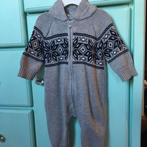 3 month Sweater one piece zip up